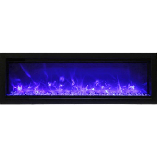 "Remii Fireplaces Remii WM-50-B 50"" Electric Fireplace  Basic clean-face electric built-in with glass, black steel surround WM-50-B 628110804150"
