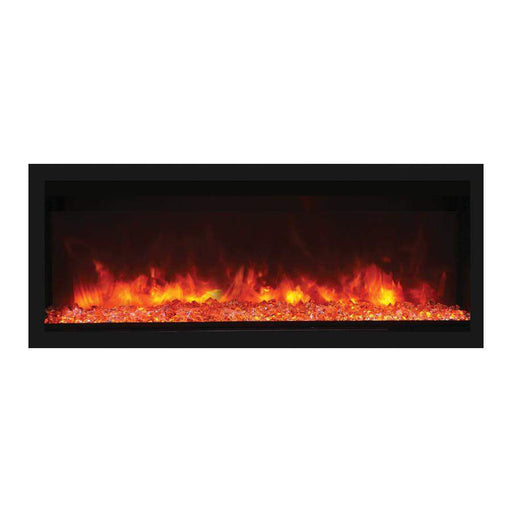 "Remii Fireplaces Remii 102755-XT 55"" Electric Fireplace  Tall Indoor or Outdoor Electric Built-in only with black steel surround 102755-XT 628110804105"