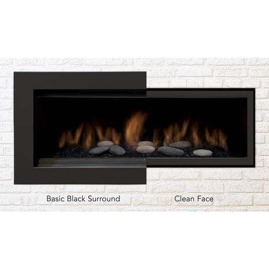 Sierra Flame Fireplaces Sierra Flame BENNETT-CLEAN-BLK Clean face black surround with safety barrier BENNETT-CLEAN-BLK