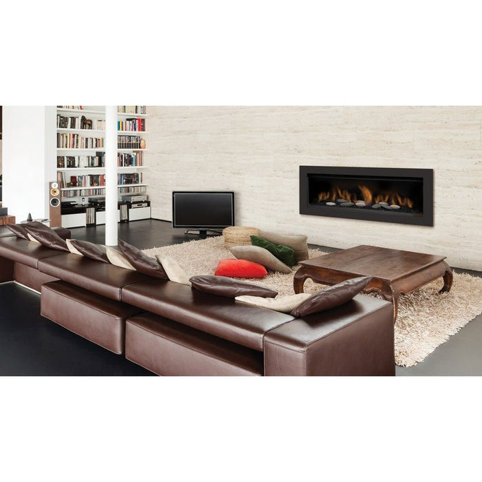 "Sierra Flame Fireplaces Sierra Flame AUSTIN-65G-LP-DELUXE 65"" Liquid Propane Direct Vent Linear AUSTIN-65G-LP-DELUXE"