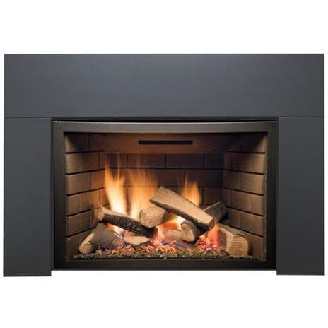 "Sierra Flame Fireplaces Sierra Flame ABBOT-30BL-DELUXE-LP 30"" Liquid Propane Deluxe Direct vent insert w/ Ceramic Brick Panels & Log set ABBOT-30BL-DELUXE-LP 628451612209"