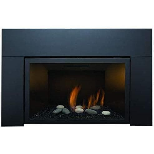 "Sierra Flame Fireplaces Sierra Flame ABBOT-30BL-DELUXE-NG 30"" Natural Gas Deluxe Direct vent insert w/ Ceramic Brick Panels & Log set ABBOT-30BL-DELUXE-NG 628451612193"