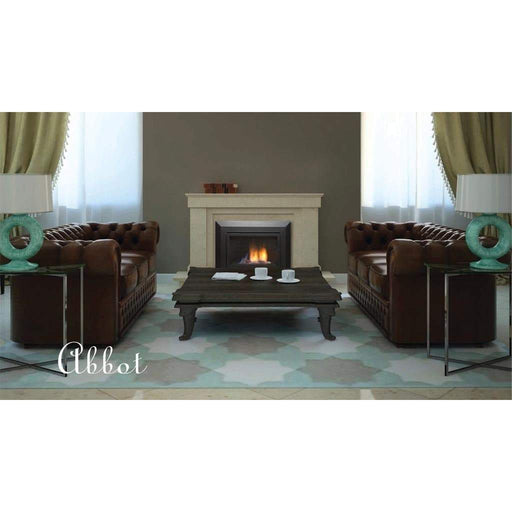 "Sierra Flame Fireplaces Sierra Flame ABBOT-30PG-DELUXE-NG 30"" Natural Gas Deluxe Direct vent insert w/ Black porcelain panels, black reflective glass & 9 pce rock set ABBOT-30PG-DELUXE-NG 628451612179"