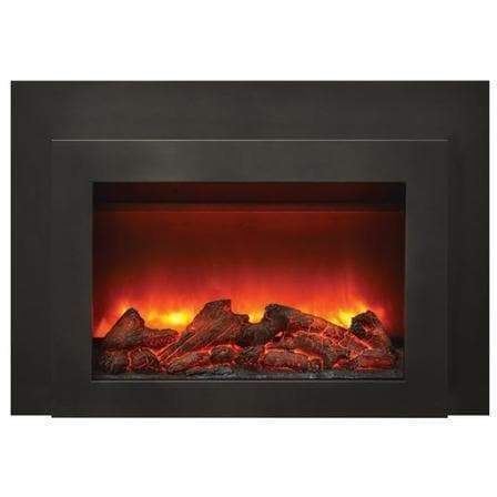 "Sierra Flame Fireplaces Sierra Flame INS-FM-30 30"" Insert Insert with Dual Steel Surround INS-FM-30 628451612421"