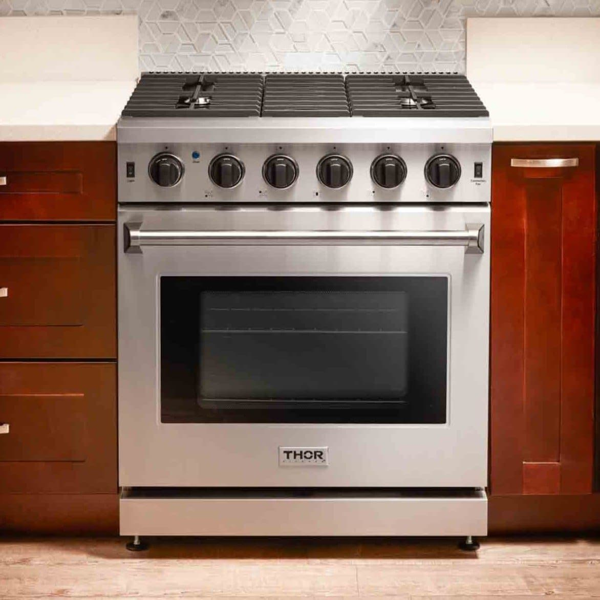Thor Kitchen 30 4 55 Cu Ft Professional Gas Range In Stainless Stee Homeflamestore Com