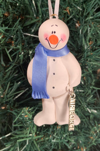 Air Force #1 Snowman Tree Ornament