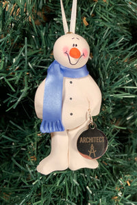 Architect Snowman Tree Ornament