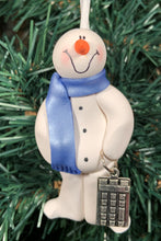 Load image into Gallery viewer, Bookkeeper Snowman Tree Ornament