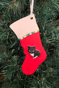 Cat Stocking Tree Ornament - Assorted