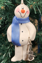 Load image into Gallery viewer, Cello Snowman Tree Ornament