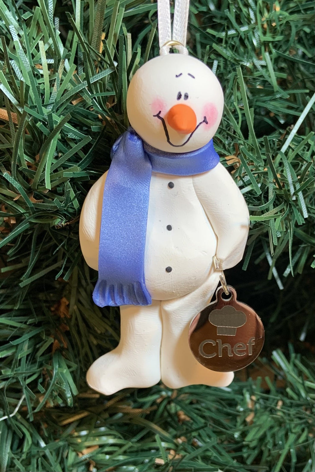 Chef Charm Snowman Tree Ornament