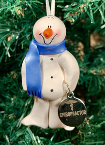 Chiropractor Snowman Tree Ornament