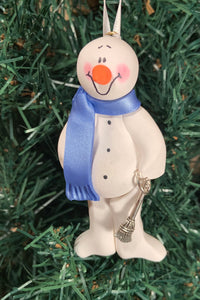 Cleaner Housekeeper Janitor Snowman Tree Ornament