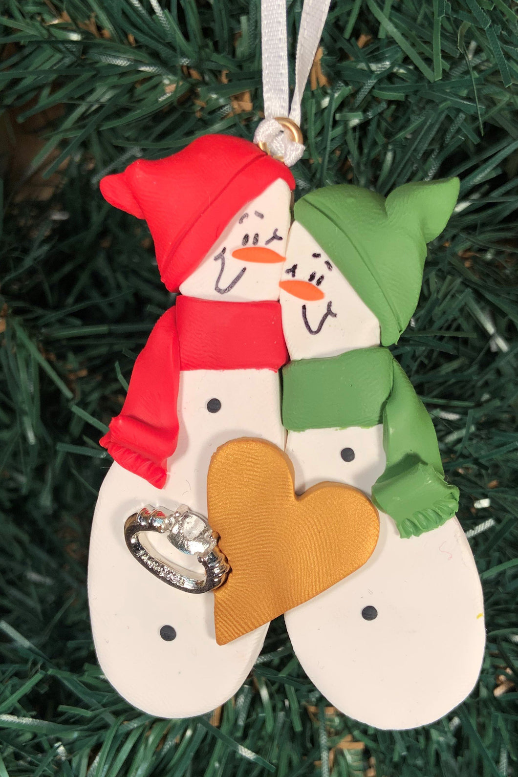 Couples Engaged Tree Ornament