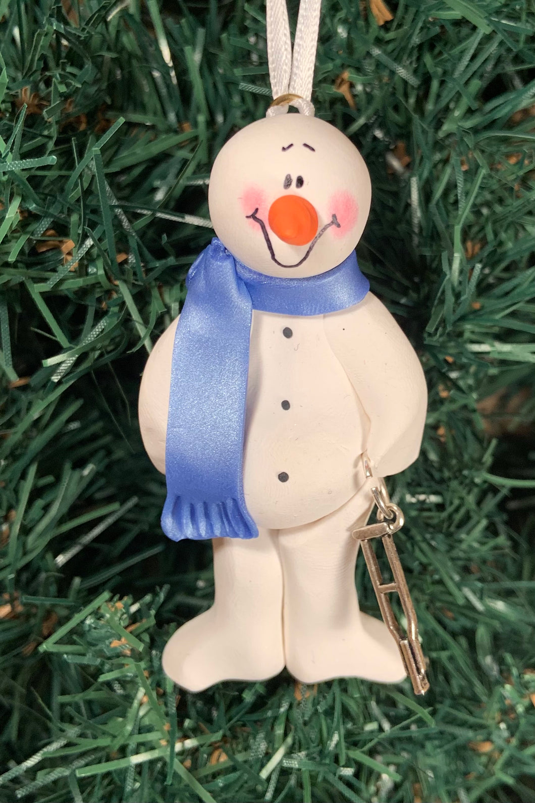 Crutches Snowman Tree Ornament