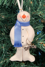 Load image into Gallery viewer, Dance Snowman Tree Ornament