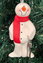 Load image into Gallery viewer, Dental Hygienist Brush Snowman Tree Ornament