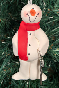 Dental Hygienist Brush Snowman Tree Ornament