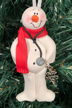 Load image into Gallery viewer, Doctor MD Snowman Tree Ornament