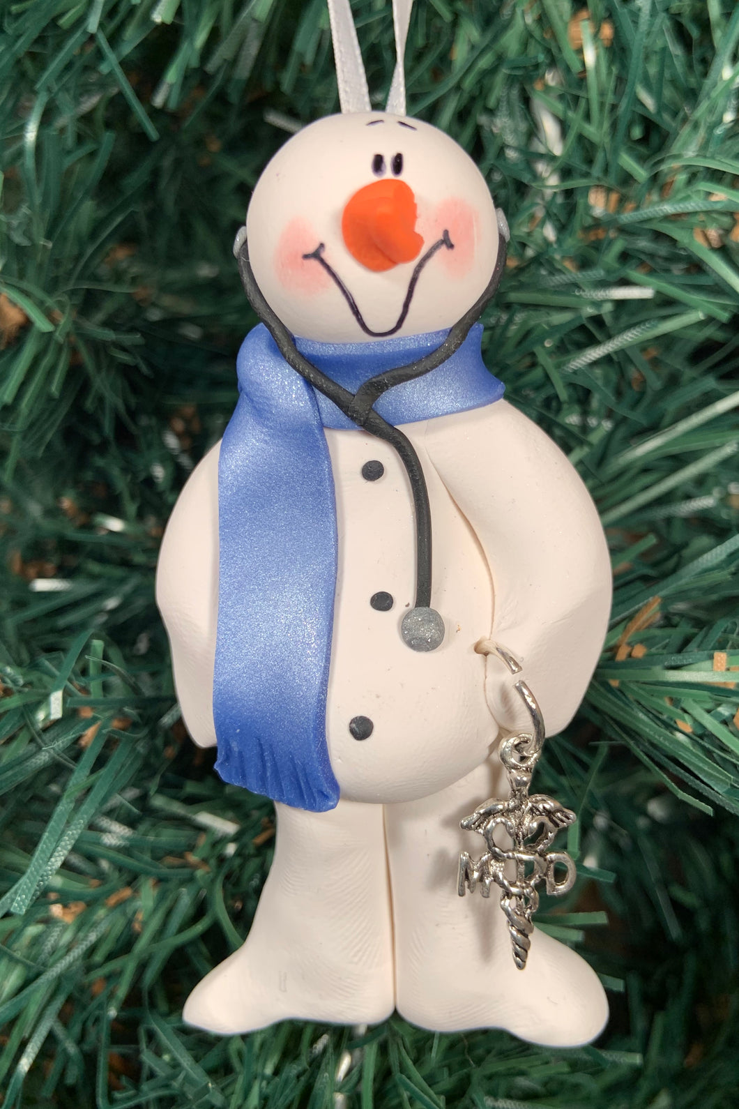Doctor MD Snowman Tree Ornament