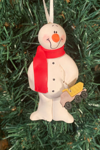 Dump Truck Snowman Tree Ornament