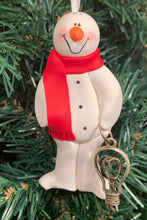 Load image into Gallery viewer, Electrician Snowman Tree Ornament