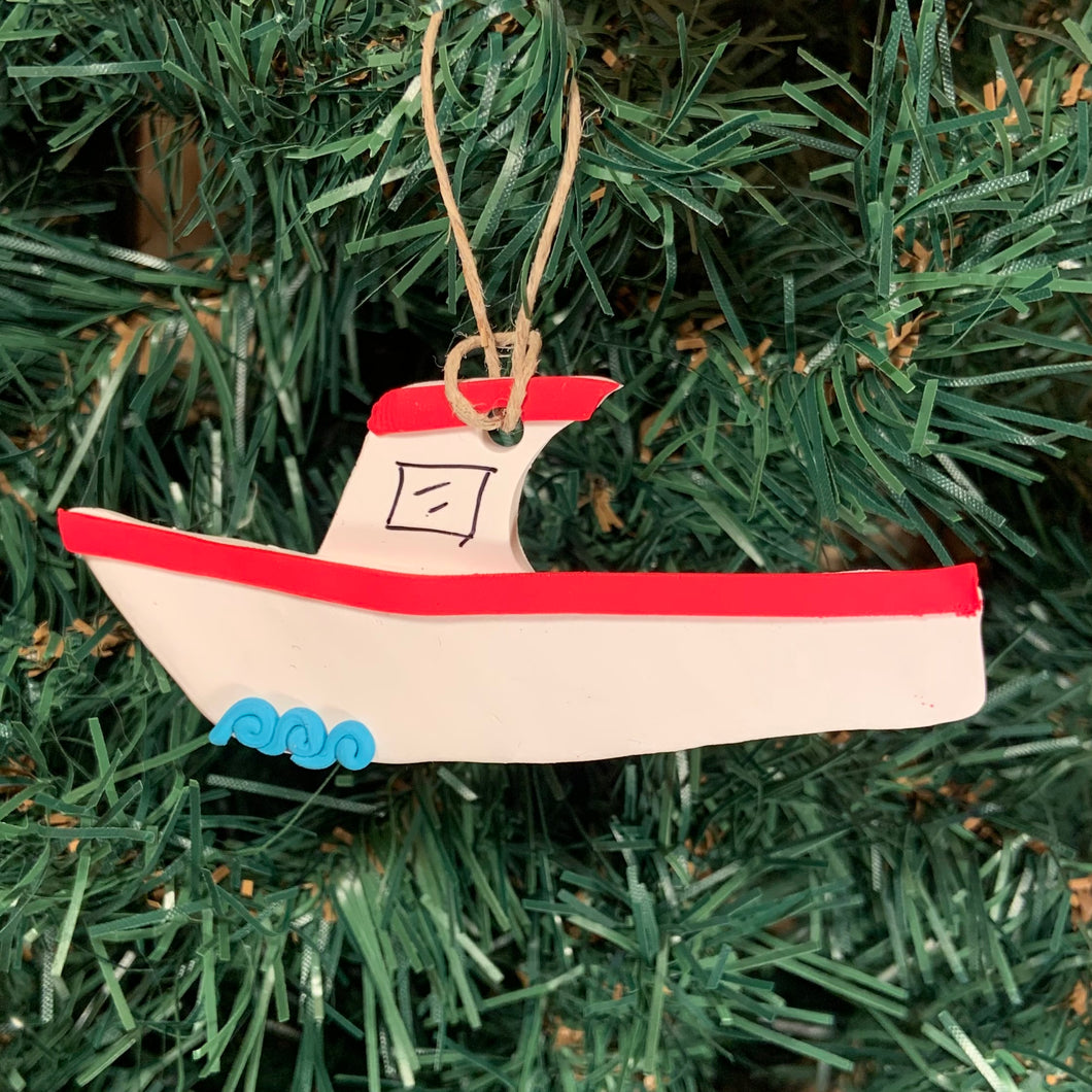 Fishin' Boat Tree Ornament