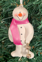 Load image into Gallery viewer, Fitness Snowman Tree Ornament