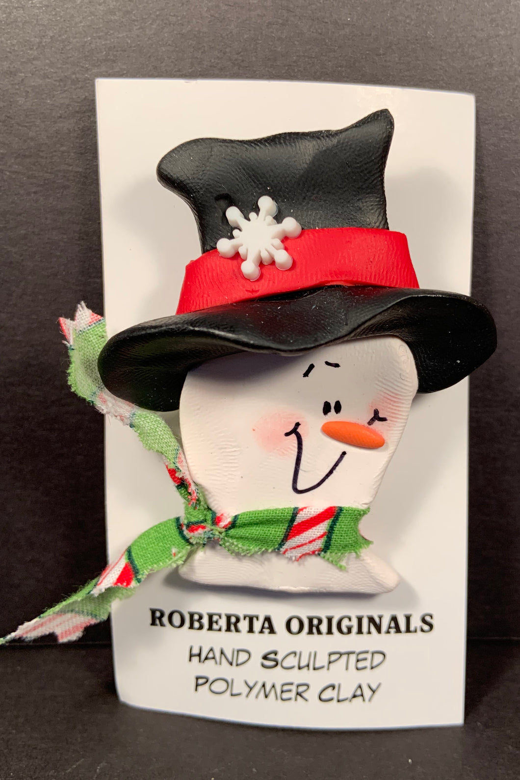 Frosty Top Hat Pin #102 One-Of-a-kind