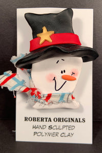 Frosty Top Hat Pin #105 One-Of-a-kind