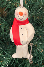 Load image into Gallery viewer, Golf Snowman Tree Ornament