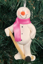 Load image into Gallery viewer, Hockey Snowman Tree Ornament