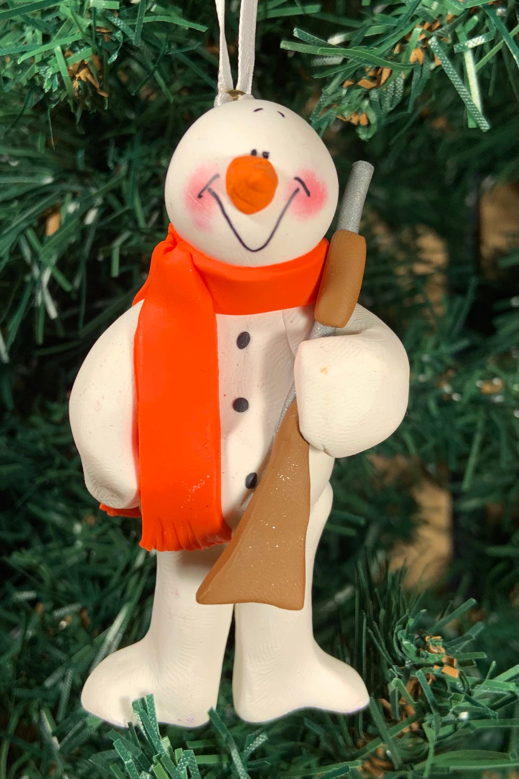 Hunter Snowman Tree Ornament