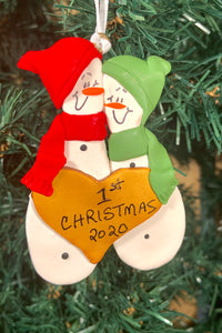 Couples Christmas Tree Ornament