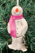 Load image into Gallery viewer, Lab Tech Snowman Tree Ornament