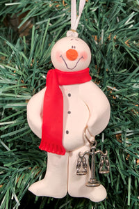 Lawyer Snowman Tree Ornament