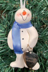 Massage Therapy Snowman Tree Ornament