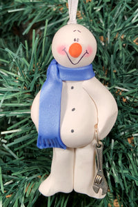 Mechanic Adjust Wrench Snowman Tree Ornament