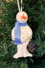 Load image into Gallery viewer, Navy #2 Snowman Tree Ornament
