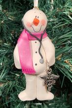 Load image into Gallery viewer, Nurse Practitioner (NP) Snowman Tree Ornament