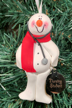 Load image into Gallery viewer, Nursing Student Snowman Tree Ornament