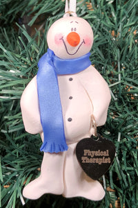 Physical Therapy Snowman Tree Ornament