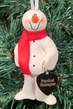 Load image into Gallery viewer, Physical Therapy Snowman Tree Ornament
