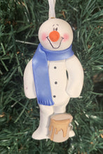 Load image into Gallery viewer, Painter Decorator Snowman Tree Ornament