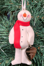 Load image into Gallery viewer, Pharmacist Snowman Tree Ornament