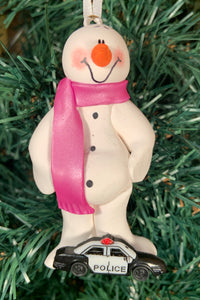 Police Snowman Tree Ornament