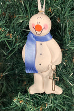 Load image into Gallery viewer, Religion Cross Snowman Tree Ornament