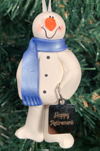 Load image into Gallery viewer, Retired Snowman Tree Ornament