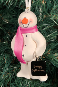 Retired Snowman Tree Ornament