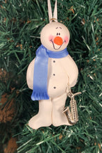 Load image into Gallery viewer, Saxophone Snowman Tree Ornament